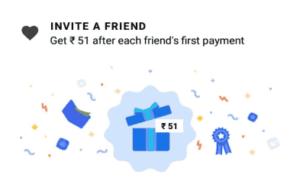 Google pay invite and earn Rs.51