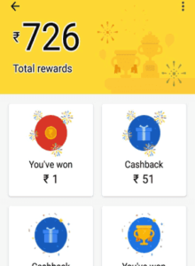 Google pay scratch card won cashback