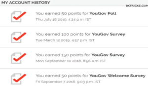 Yougov survey task points