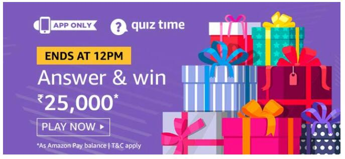 amazon today quiz 29 august answer