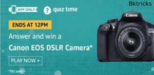 amazon today quiz canon dslr