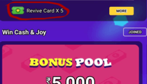 minijoy Pro quiz revive card